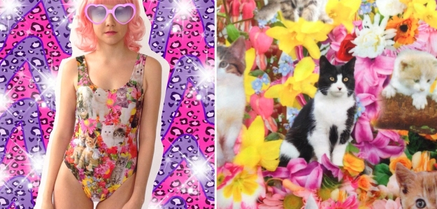 Kitty swimsuits and print