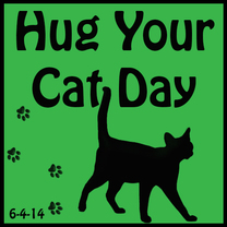 Hug Your Cat Day badge