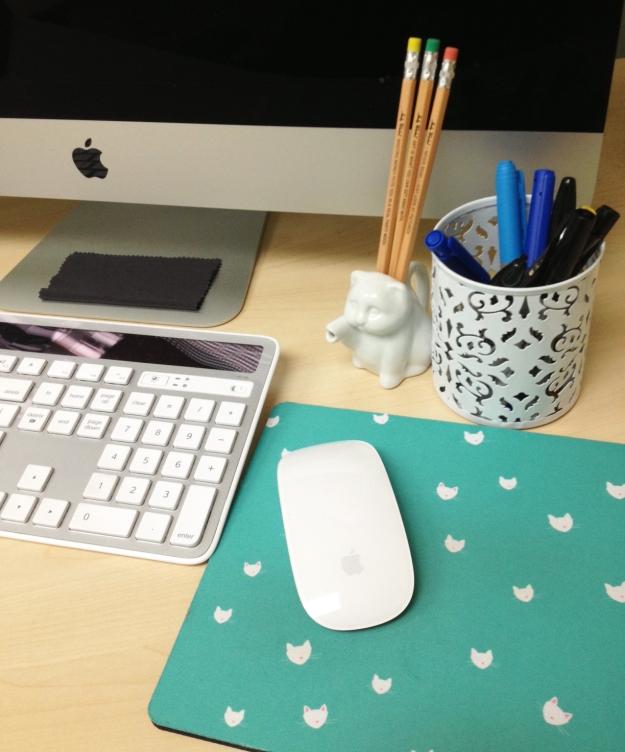 Mousepad on desk