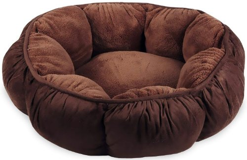 Puffy round cat bed
