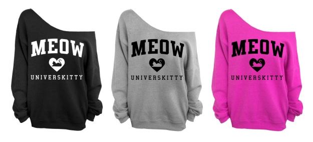 Meow Universkitty sweatshirts