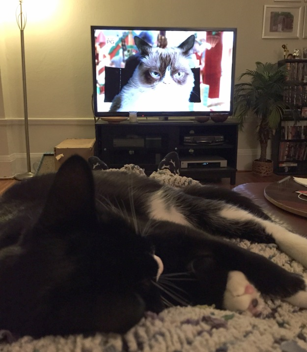 Tux watching the movie