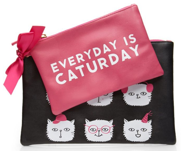 Caturday pouch set