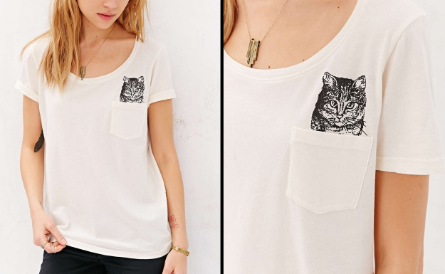 Project Social T Peeking Cat Tee - Urban Outfitters