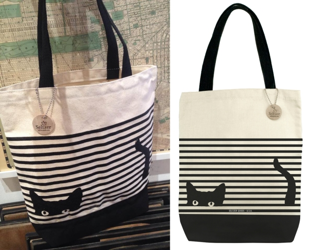 Cat stripe tote