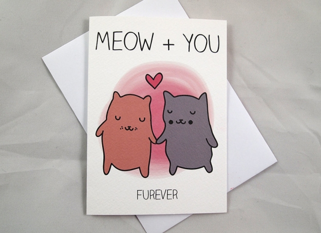 Meow + You card