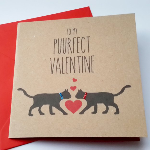 Purrfect Valentine card