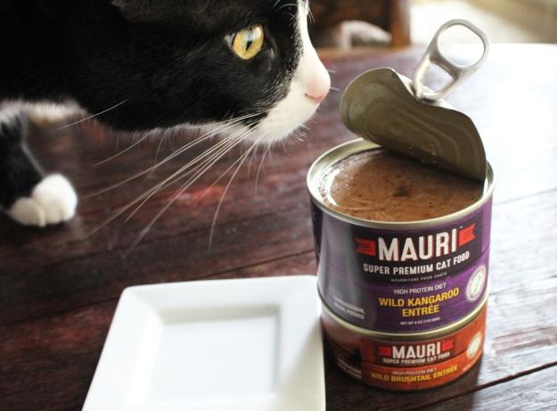 Tux and MAURI cat food