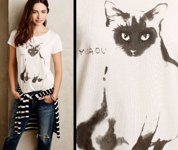 Le Weekend graphic tee - Anthropologie