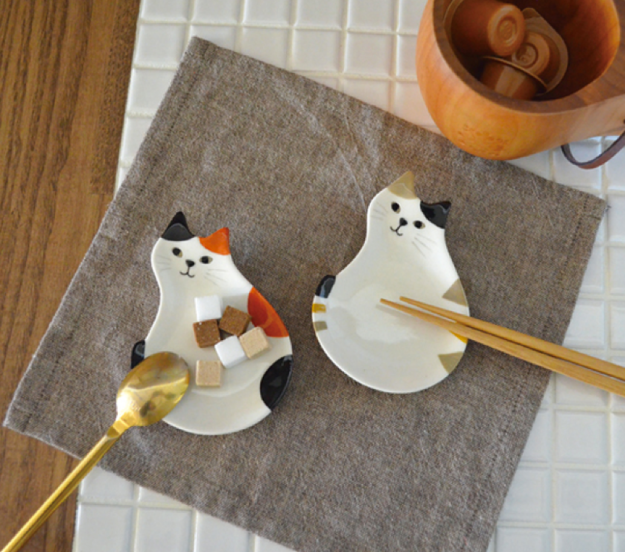 cat chopstick rest plates 2