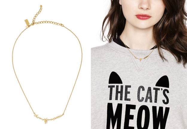 The cat's meow necklace full view