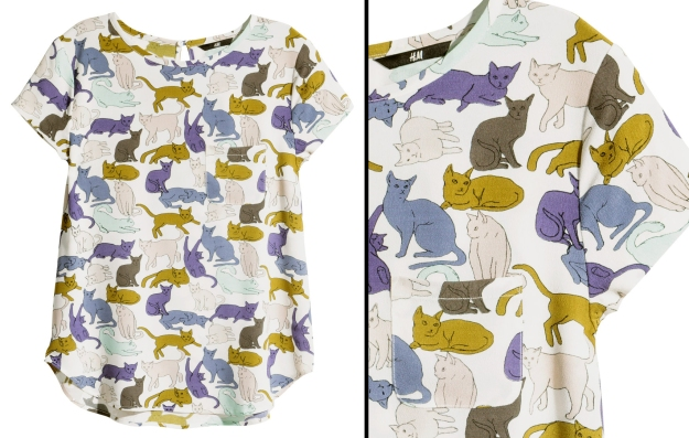 H&M cat blouse